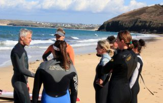 Ocean Sports Centre Clinic - session briefing on Carbis Bay