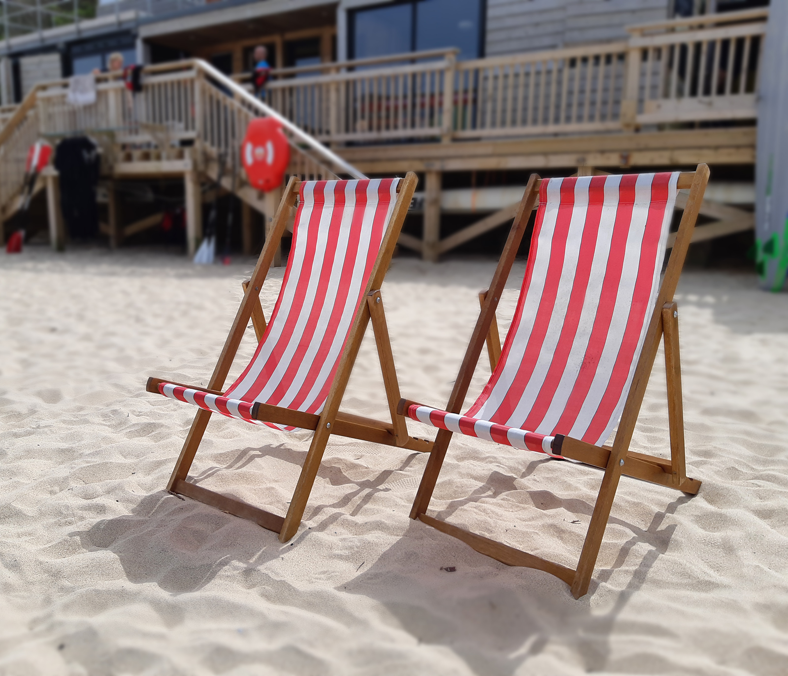 Deck chair and wind break hire Carbis Bay Beach