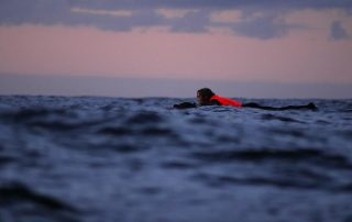 Jack Coop paddling across the Celtic Sea