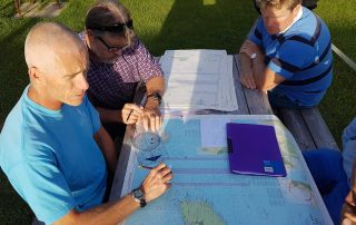 Glenn and the safety crews route planning