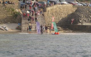 The finish of the Celtic Crossing in Sennen Harbour