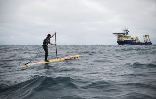 Ben Fisher Passing a research vessel during the Celtic Crossing
