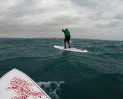 Ocean Skills downwinding across Mounts Bay